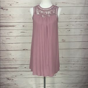 Altar'd State Small Crochet Layered Lavender Dress